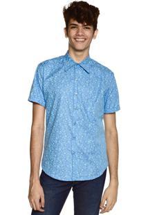 Camisa Floral Neesie Azul