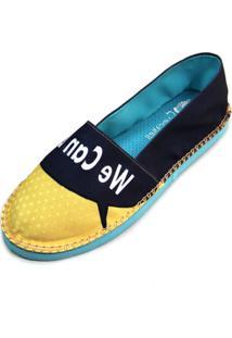 Alpargata Cupcakes Shoes Girl Power - Feminino-Amarelo+Marinho