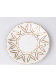 Prato Para Sobremesa Porcelana Schmidt - Dec. Helena Fendi