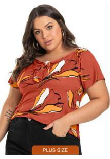 Blusa Feminina Estampada Vermelho