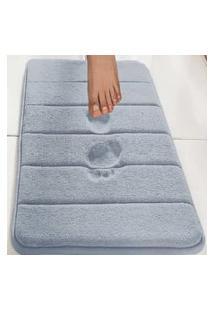 Tapete De Banheiro Camesa Super Soft Azul 60X40Cm