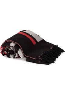 Stella Mccartney Cobertor Com Franjas - Preto