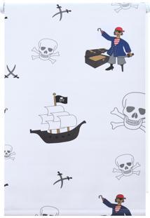 Persiana Rolo Black Out Evolux Infantil Piratas Multicolorida