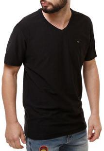 Camiseta Manga Curta Masculina Dixie Preto