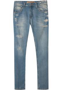 Calça John John Slim Japao 3D Jeans Azul Masculina (Jeans Medio, 38)