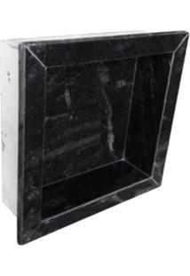 Nicho Rw Para Banheiro Granito Preto Comercial Com Borda A: 30Cm. X C: 30Cm.