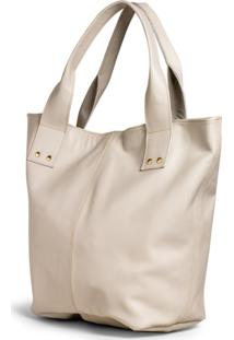 Bolsa Shopper Clube Do Sapato De Franca Belaju Bag 01 Marfim - Bege - Feminino - Dafiti