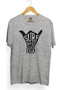 Camiseta Los Fuckers West Coast - Masculino-Cinza