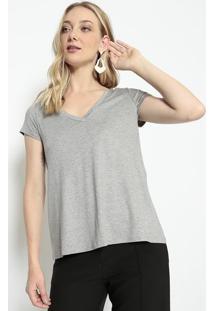 Camiseta Lisa Em Mescla- Cinza- Us2Us2