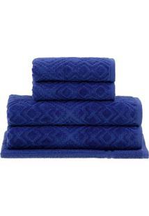 Jogo De Toalhas Bristol- Azul Escuro- 5Pã§S- Buddbuddemeyer