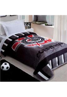 Cobertor Corttex De Solteiro Corinthians Com 150 X 200 Cm – Estampado