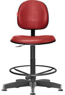 Cadeira Caixa Alta Executiva Giratória Courvin Bordô