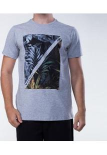 Camiseta Mormaii Leaves Masculina - Masculino-Cinza