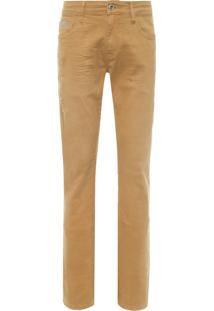Calça Masculina Jeans Color - Bege