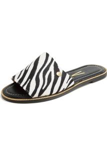 Rasteira Vizzano Zebra Branca