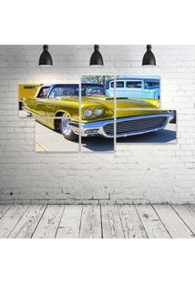 Quadro Decorativo - Old-Car-Yellow - Composto De 5 Quadros - Multicolorido - Dafiti