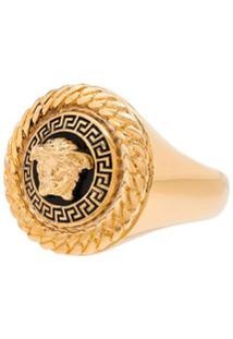 Versace Anel Com Aplicação Medusa - Dourado