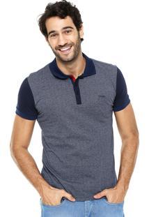 Camisa Polo Sommer Bicolor Azul