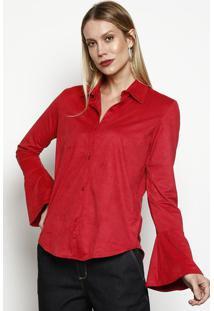 Camisa Em Camurça- Vermelha- Maria Valentinamaria Valentina