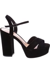 Sandália Salto Bloco Trendy Black   Schutz