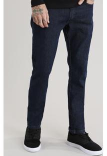 Calça Jeans Masculina Slim Com Algodão + Sustentável Azul Escuro