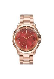 Relógio Technos Feminino Crystal Analógico Rosé 2036Mln4R
