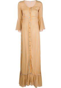 C'Est La V.It Striped Button-Up Dress - Rosa
