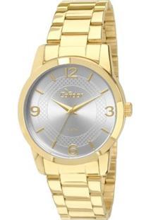 Relógio Condor Feminino Eterna Bracelete - Feminino-Dourado+Branco