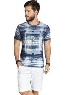 Camiseta Surf.Com Estonada Masculina - Masculino-Azul