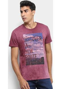 Camiseta Calvin Klein Estampa Discover Masculina - Masculino-Bordô