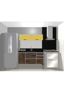 Cozinha Modulada Embut - 1,40M - 4 Basculas - 3 Gavetas - 1 Porta