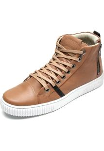 Tênis Sneaker Calvin Klein Zíper Bege