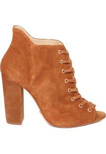 Bota Ankle Boot Camurça - Marrom