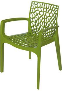 Cadeira Gruver Com Braco Polipropileno Verde - 30479 - Sun House