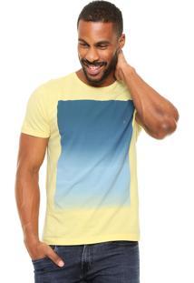 Camiseta Aramis Regular Fit Estampa Amarela