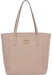 Bolsa Smart Bag Couro Tiracolo - Feminino-Nude