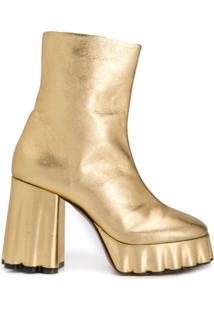 Marni Ankle Boot Robusta - Dourado