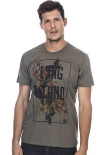 Camiseta Long Island Qf - Masculino-Verde Militar