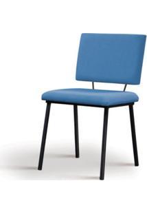 Cadeira Preciosa Azul Base Preta - 55852 - Sun House