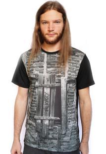 Camiseta Alkary Madeira Preto