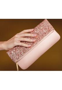 Clutch Luxo Rosé