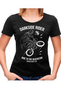 Camiseta Feminina Darkside Rider Geek10 - Preto