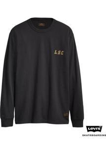 Camiseta Levis Masculino Skateboarding Graphic - Masculino-Preto