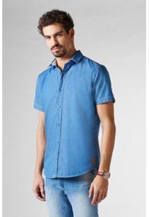 Camisa Pf Jeans Mc Regular Caibi A Reserva Masculina - Masculino-Azul