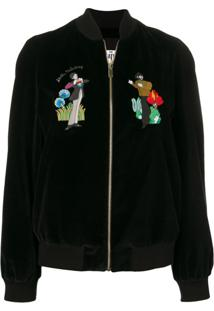Stella Mccartney Jaqueta Bomber X The Beatles All Together Now - Preto