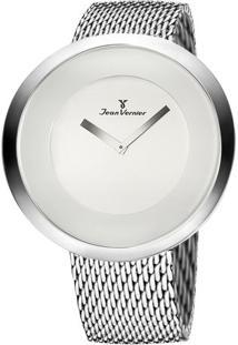 Relógio Analógico Com Relevo Jv00082A- Prateado & Brancojean Vernier