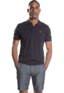 Camisa Levis Polo Housemark - Masculino-Preto