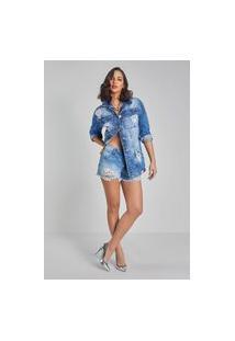 Jaqueta Jeans Osmoze Over 214123057 Azul