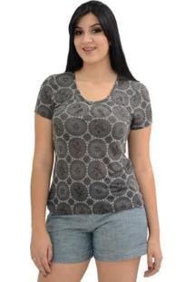 T-Shirt Devorê - Feminino-Preto