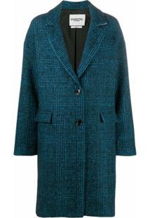 Essentiel Antwerp Casaco Xadrez Prince Of Wales Com Abotoamento Simples - Azul